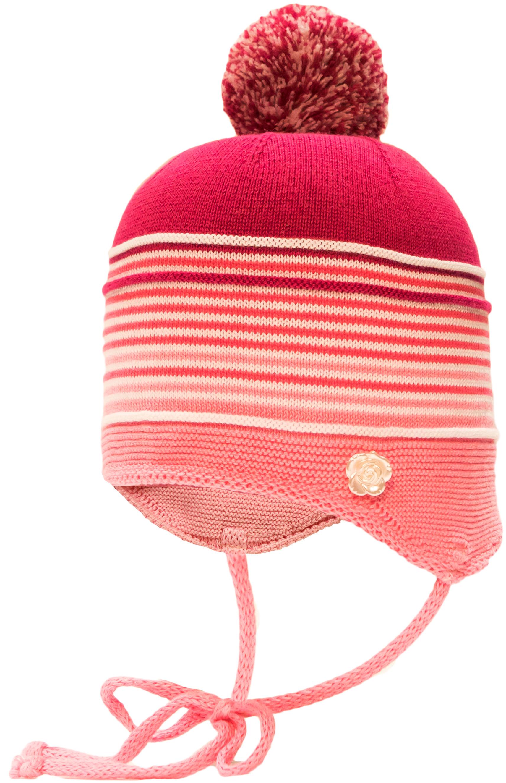 Купить Головные уборы, Шапка (ушанка) с завязками для девочки Barkito, розовая, Россия, pink, Женский