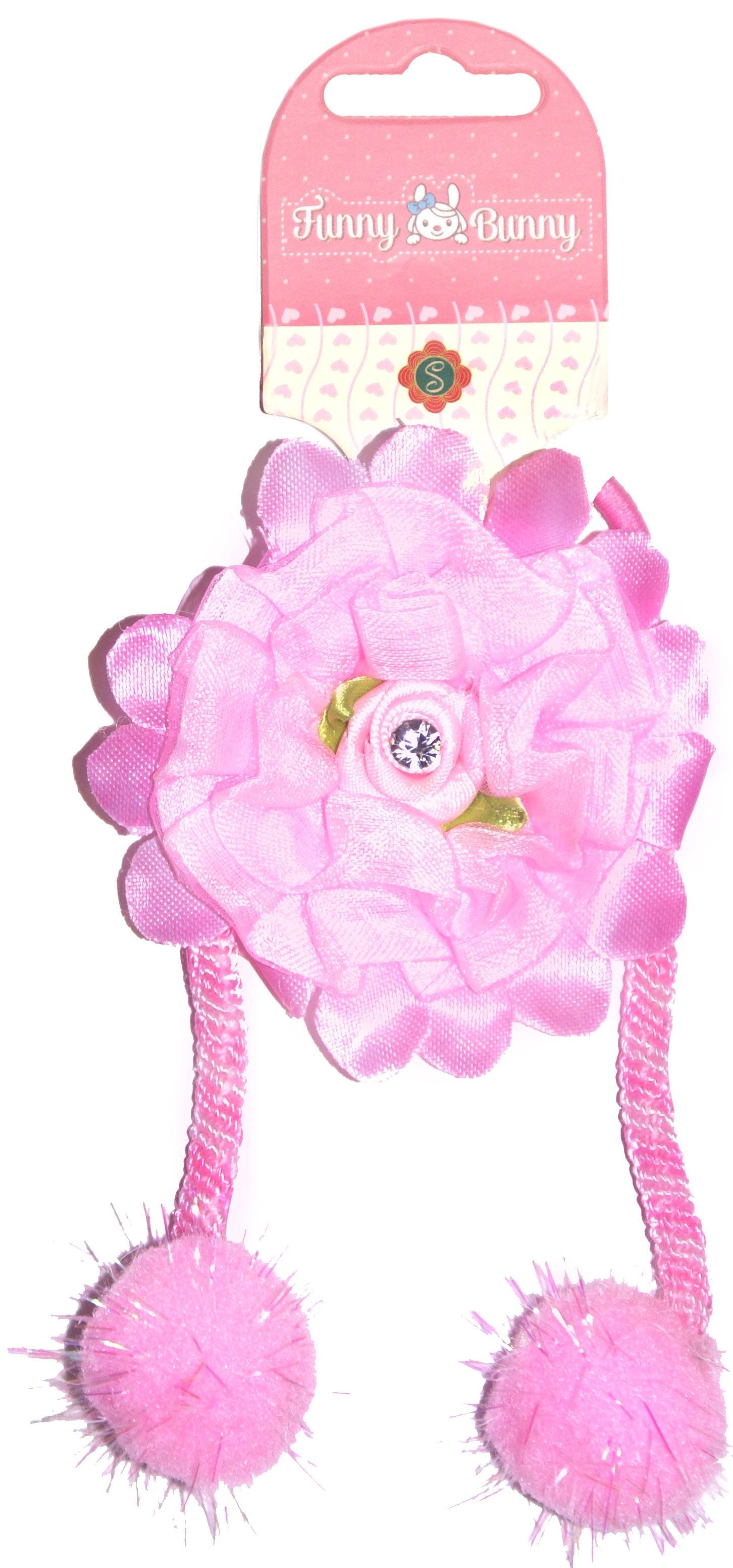 Украшения Funny Bunny Резинка для волоc Funny Bunny с украшением 1 шт. в ассортименте невидимка для волос funny bunny розовые цветы 2 шт