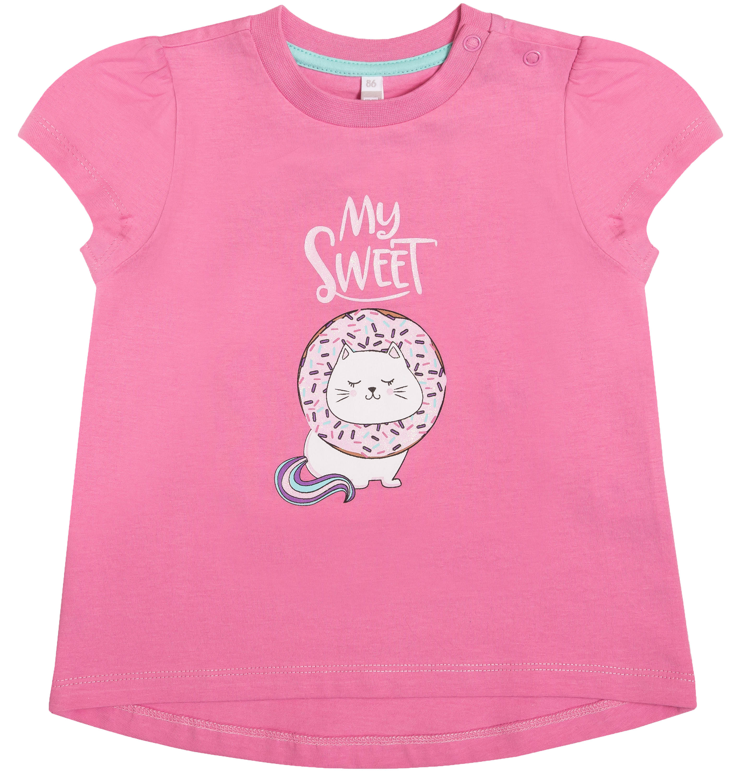 Купить Комплекты, для девочки (джемпер и брюки) «Сладкие монстры», Barkito, Узбекистан, розовый и разноцветный, верх:100% хлопок, низ: 95% хлопок, 5% эластан, Женский
