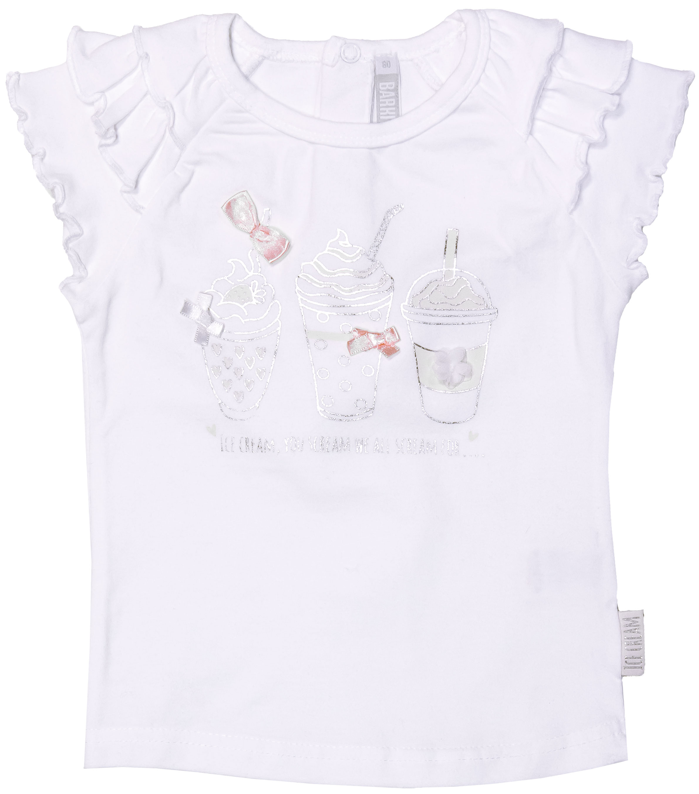 Купить Джемпер с коротким рукавом для девочки, В облаках, 1шт., Barkito 32Y-27407KOR, Индия, white, Женский