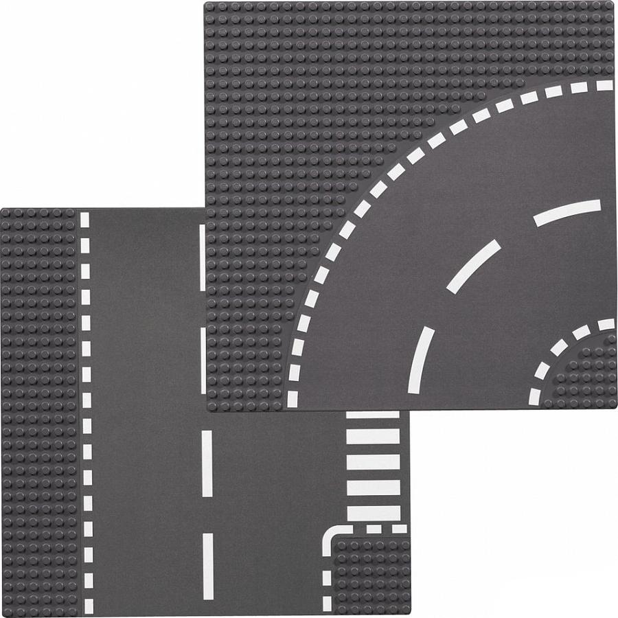 купить LEGO LEGO City 7281 Т-образный перекрёсток и поворот по цене 579 рублей