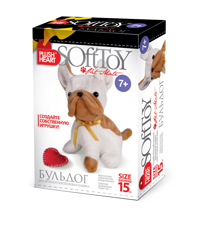Наборы для творчества Plush Heart Набор для шитья игрушек Plush Heart «Собака бульдог» автокресло happy baby taurus v2 grey