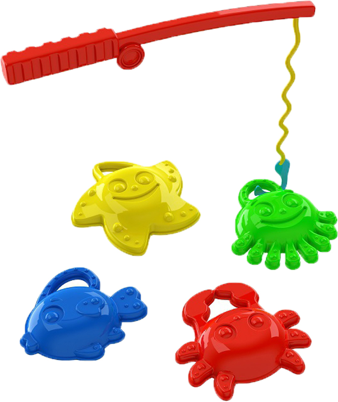 Игрушки для песка Пластмастер Пластмастер Рыбалка рыбалка заводная 2 удочки в ассорт