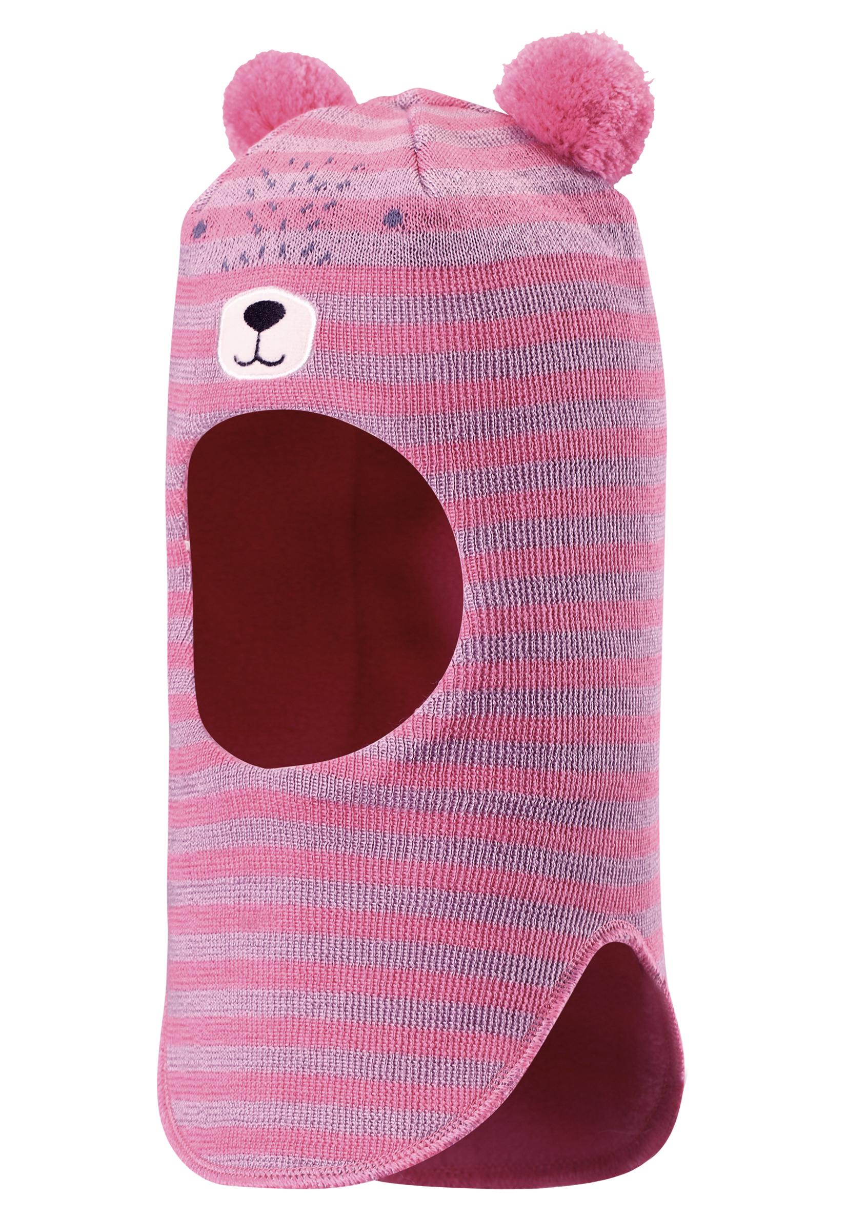 Головные уборы Lassie Шапка-шлем для девочки , розовая
