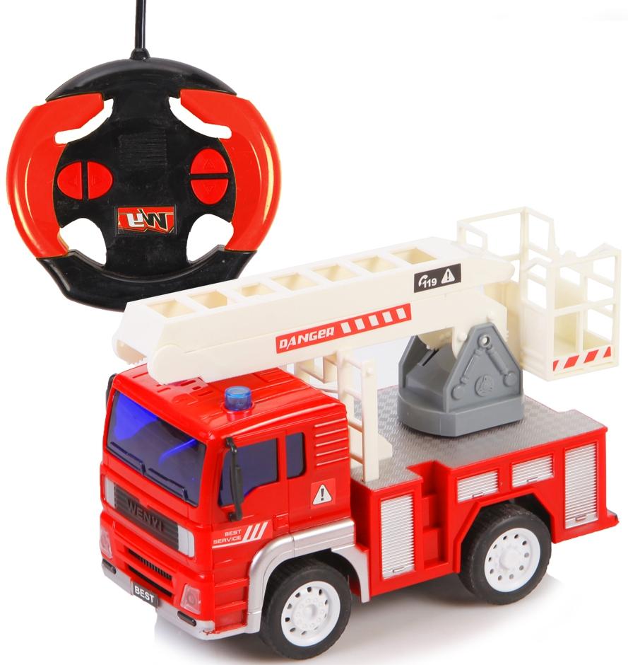 Машинки и мотоциклы YAKO пожарная с лестницей на радиоуправлении машина yako m6451