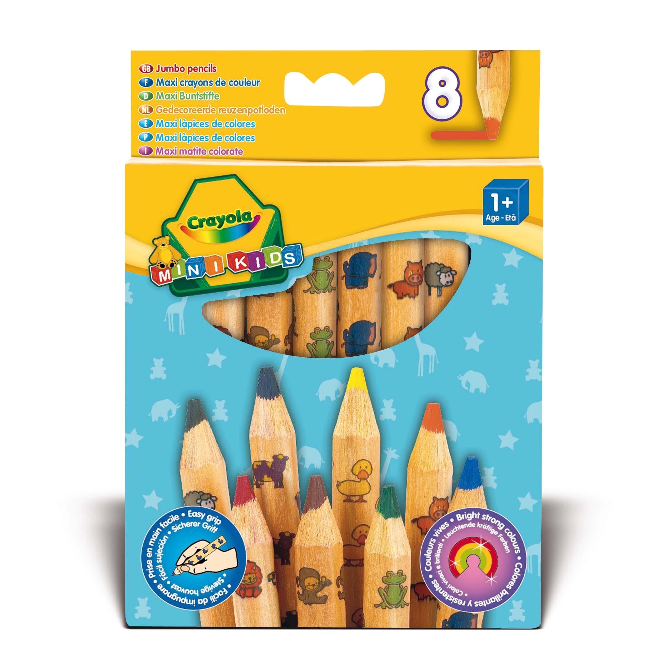 Ручки и карандаши Crayola Толстые для малышей 8 шт. ручки и карандаши crayola восковые 12шт разноцветные