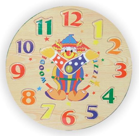 пазлы Wooden Toys Рамка-пазл Часы-цифры