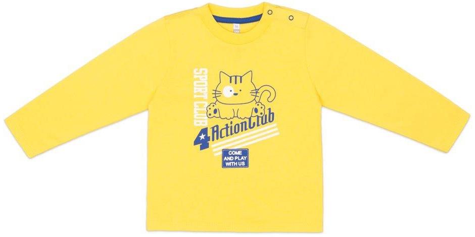 Купить Футболки, Футболка с длинным рукавом для мальчика Barkito Котики желтая, Узбекистан, желтый, Мужской