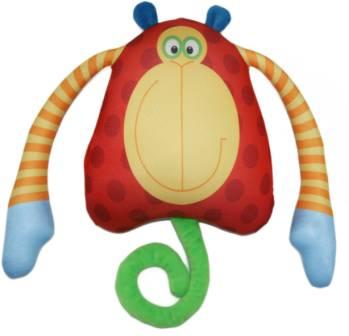 Мягкие игрушки СмолТойс Подушка-антистресс «Обезьянка Зося», СмолТойс подушки для малыша natures подушка мята антистресс 50х68