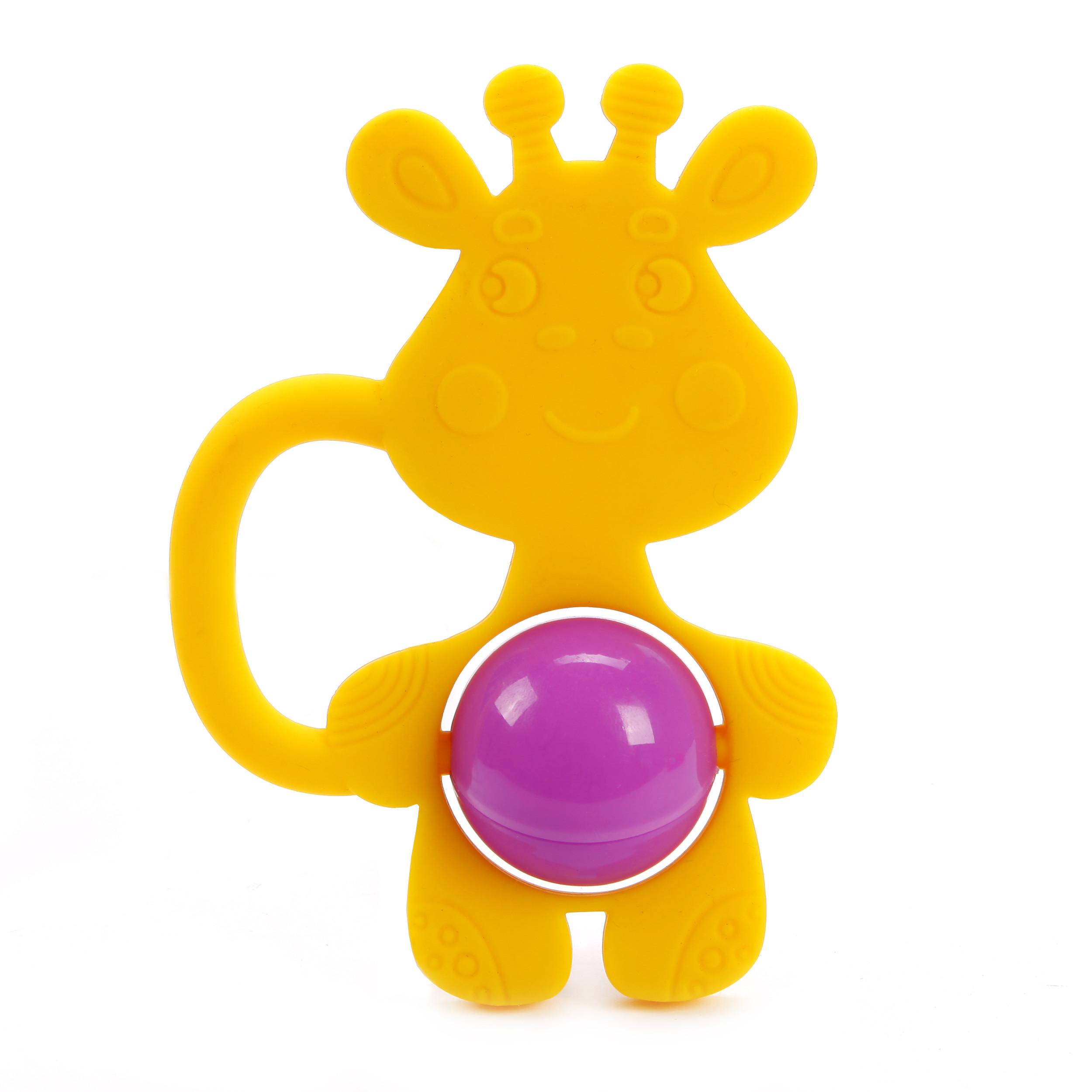 Погремушка-грызунок Жирафики «Жирафик» силиконовая грызунок жирафики жирафик разноцветный с 6 месяцев