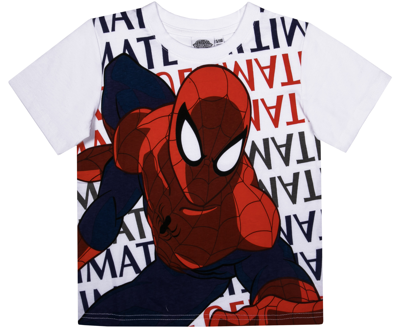 Футболки Barkito Футболка с коротким рукавом для мальчика Spider-man, белая patrizia pepe хлопковая футболка с коротким рукавом