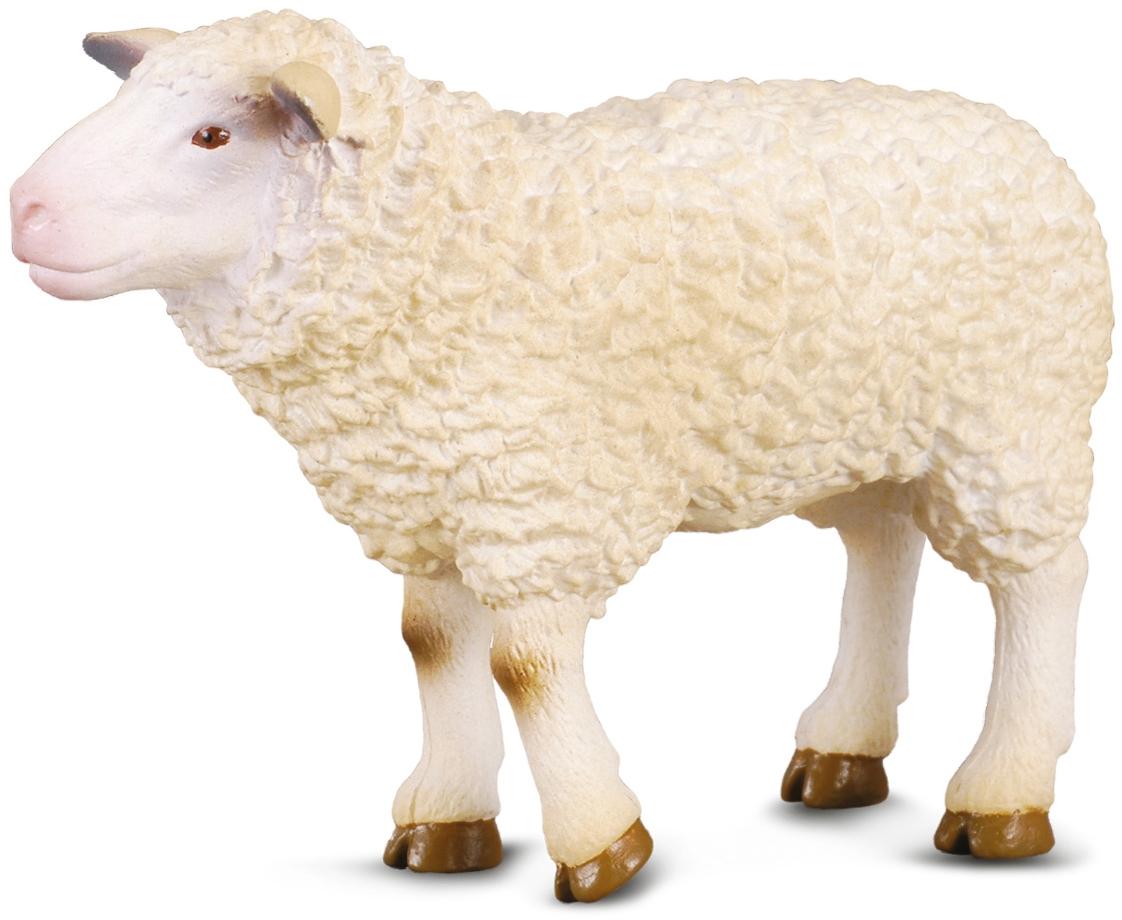 Фигурки животных Collecta Овца 8 см игровые фигурки gulliver collecta лев африканский l