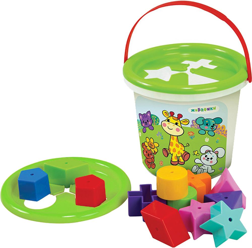 Сортер Наша игрушка Волшебное ведерко сортер жирафики веселые животные