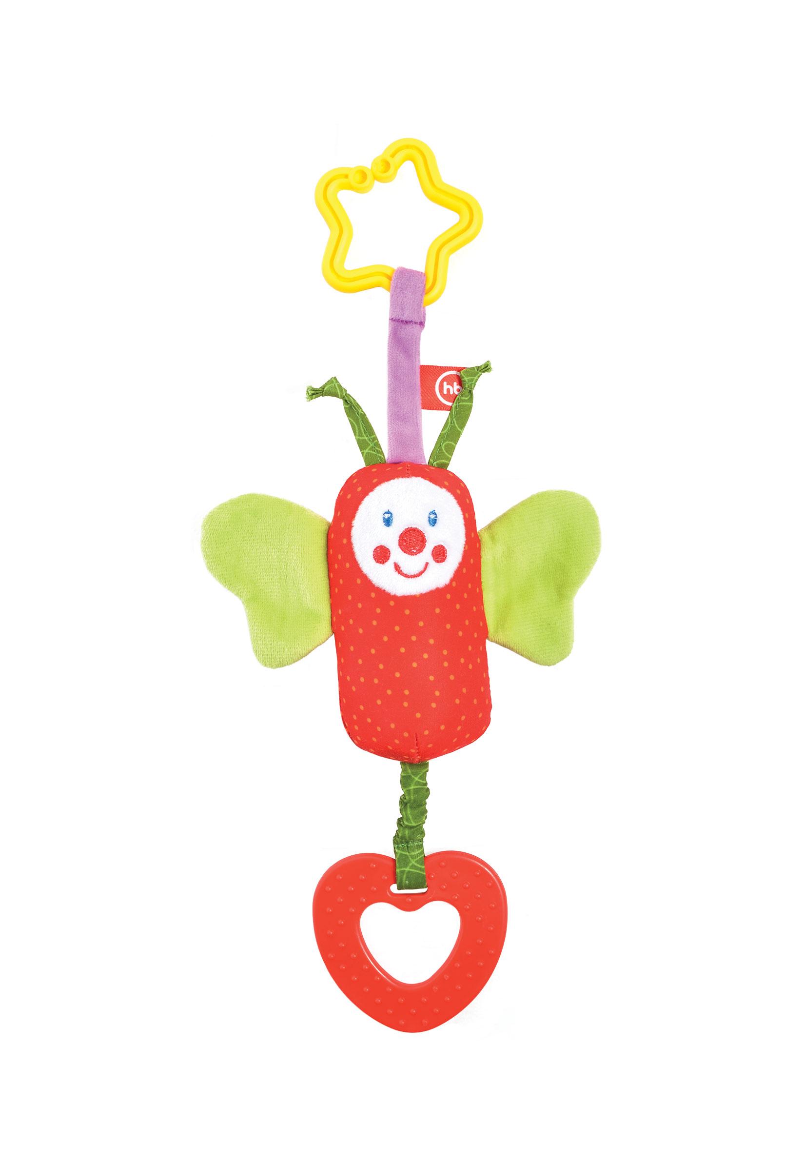 Игры и игрушки в дорогу Happy baby Подвеска-колокольчик Happy Baby «Бабочка»
