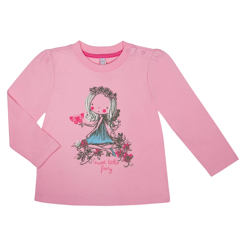 """Футболки Barkito Футболка с длинным рукавом для девочки Barkito """"Сказочный лес 1"""", розовая футболка с длинным рукавом для девочки barkito сказочный лес 1 розовая"""
