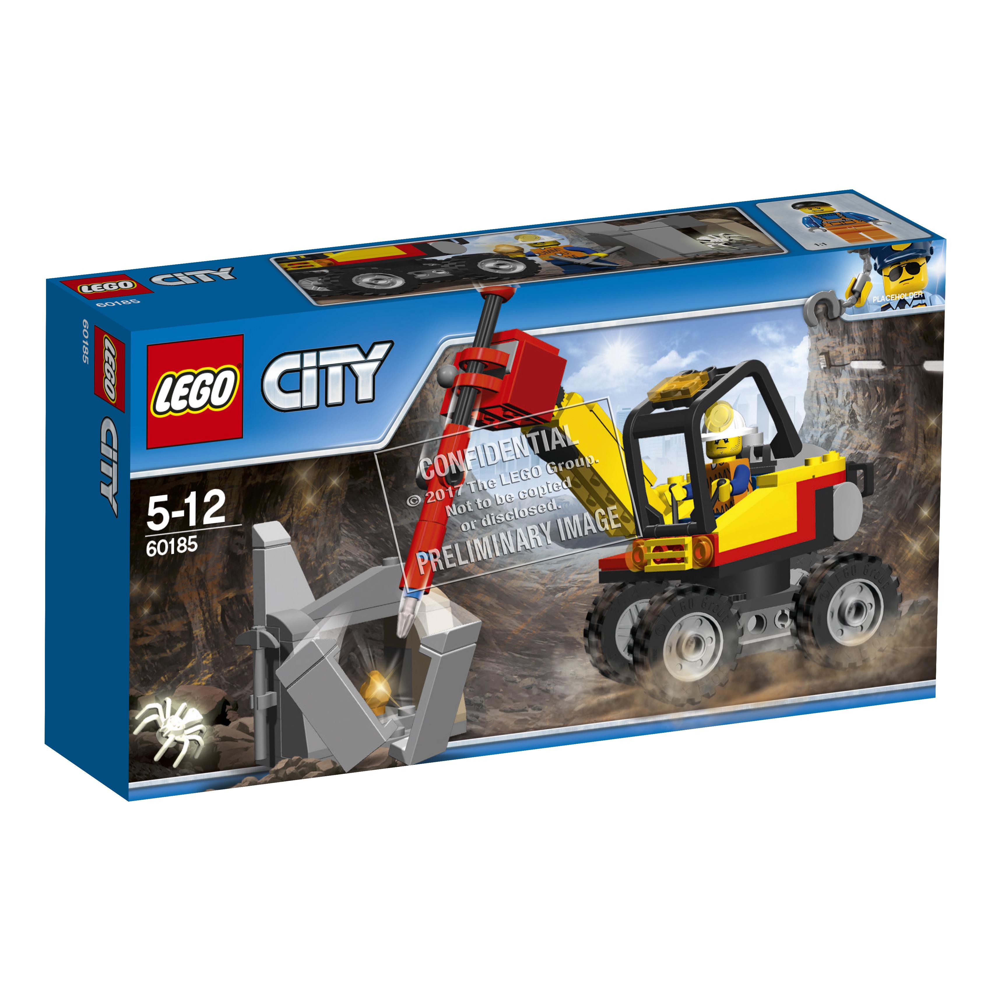 Конструктор LEGO City Mining 60185 Трактор для горных работ конструктор lego city mining 60184 бригада шахтеров