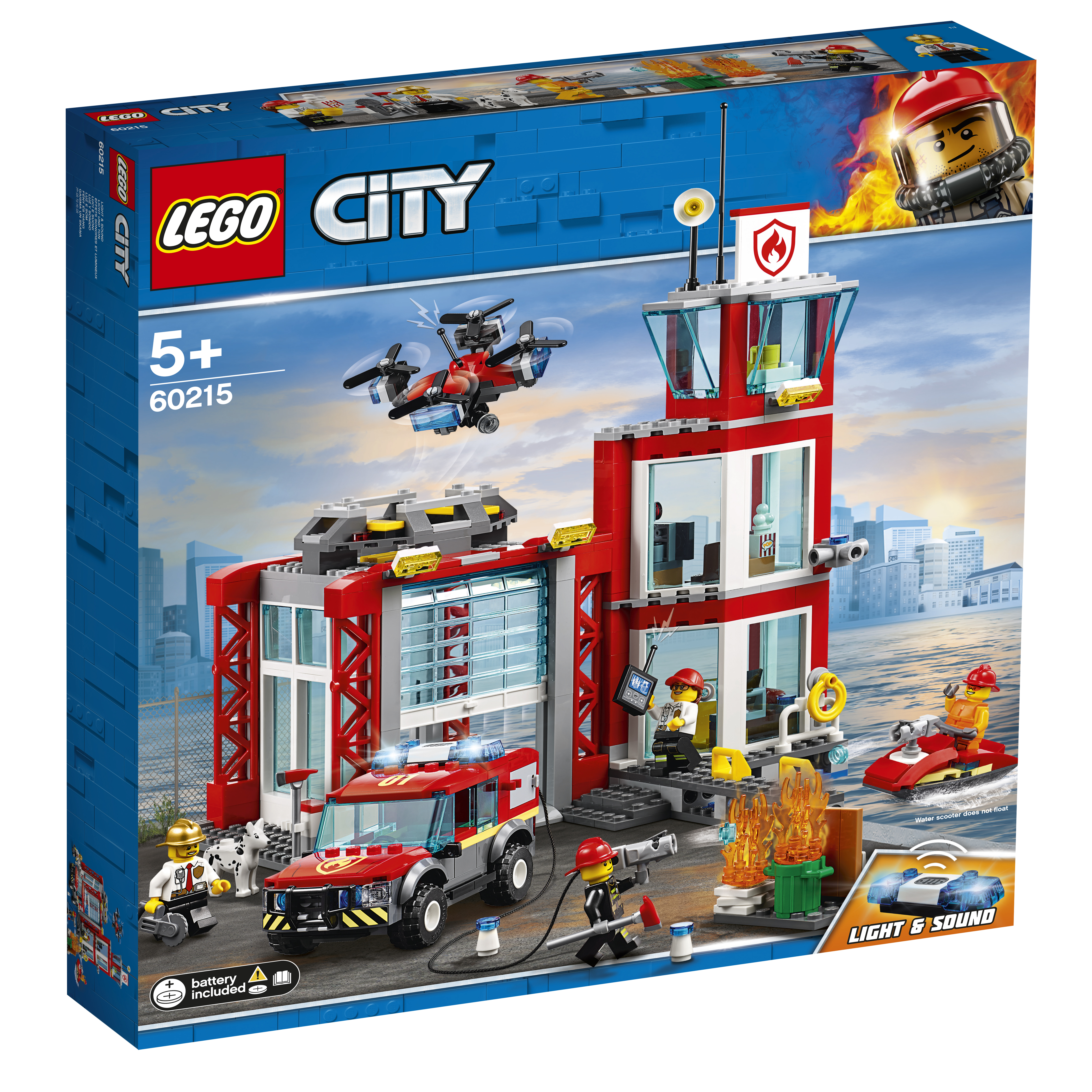 Конструктор LEGO City Fire 60215 Пожарное депо цена