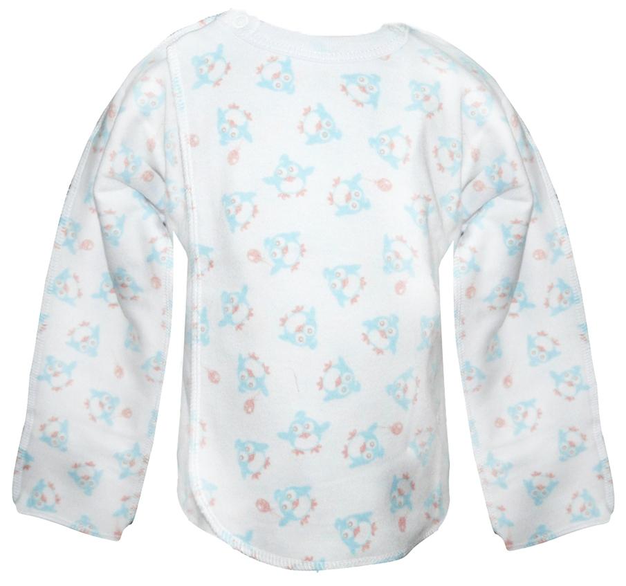 Первые вещи новорожденного BARQUITO Распашонка Пингвинчики интерлок Barquito 2 шт. Голубая распашонка р 50 голубая