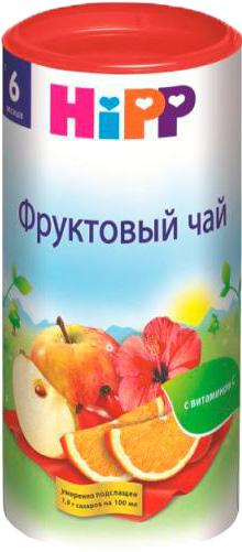 Чай детский HIPP Фруктовый с 6 мес. 200 г.