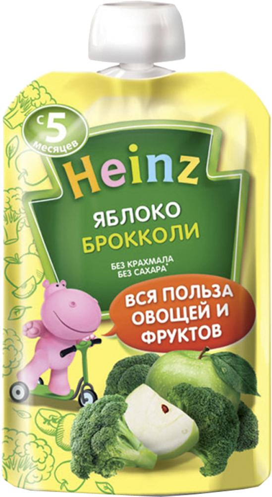 Купить Овощное, Heinz Яблоко и брокколи с 5 мес. 90 г (пауч), Россия