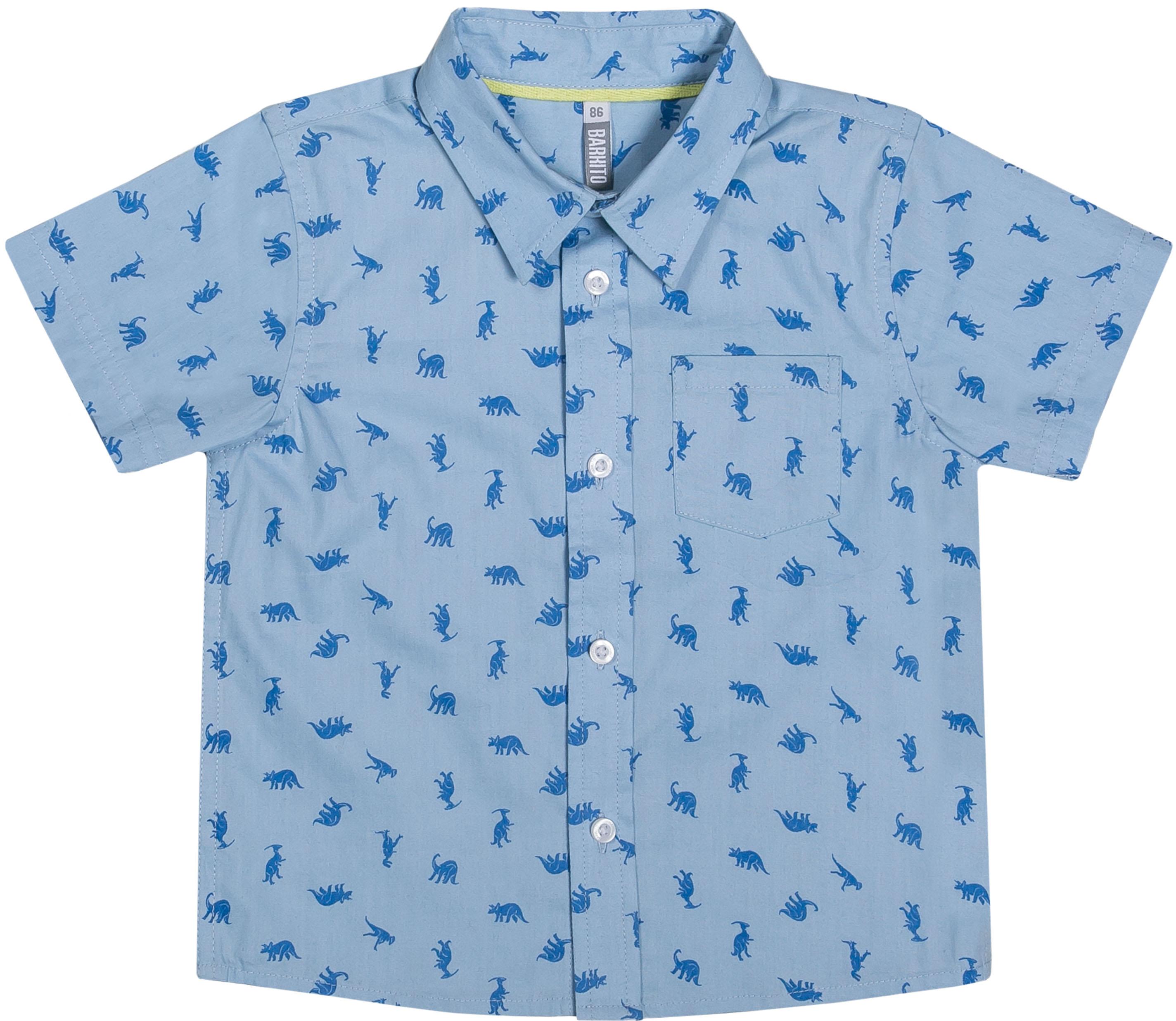 Купить Рубашки, Динозавр-супергерой 2, Barkito, Бангладеш, голубой с рисунком, Мужской