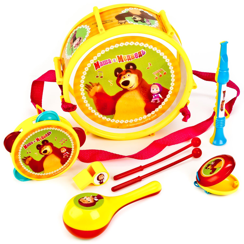 Музыкальные инструменты Играем вместе Набор музыкальных инструментов Играем вместе «Маша и Медведь» 6 пред. игровая палатка играем вместе маша и медведь