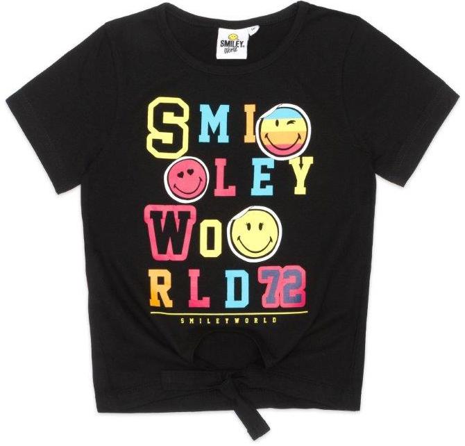 Футболки SMILEY Футболка с коротким рукавом для мальчика Smiley, черная скейтборды smiley скейтборд face