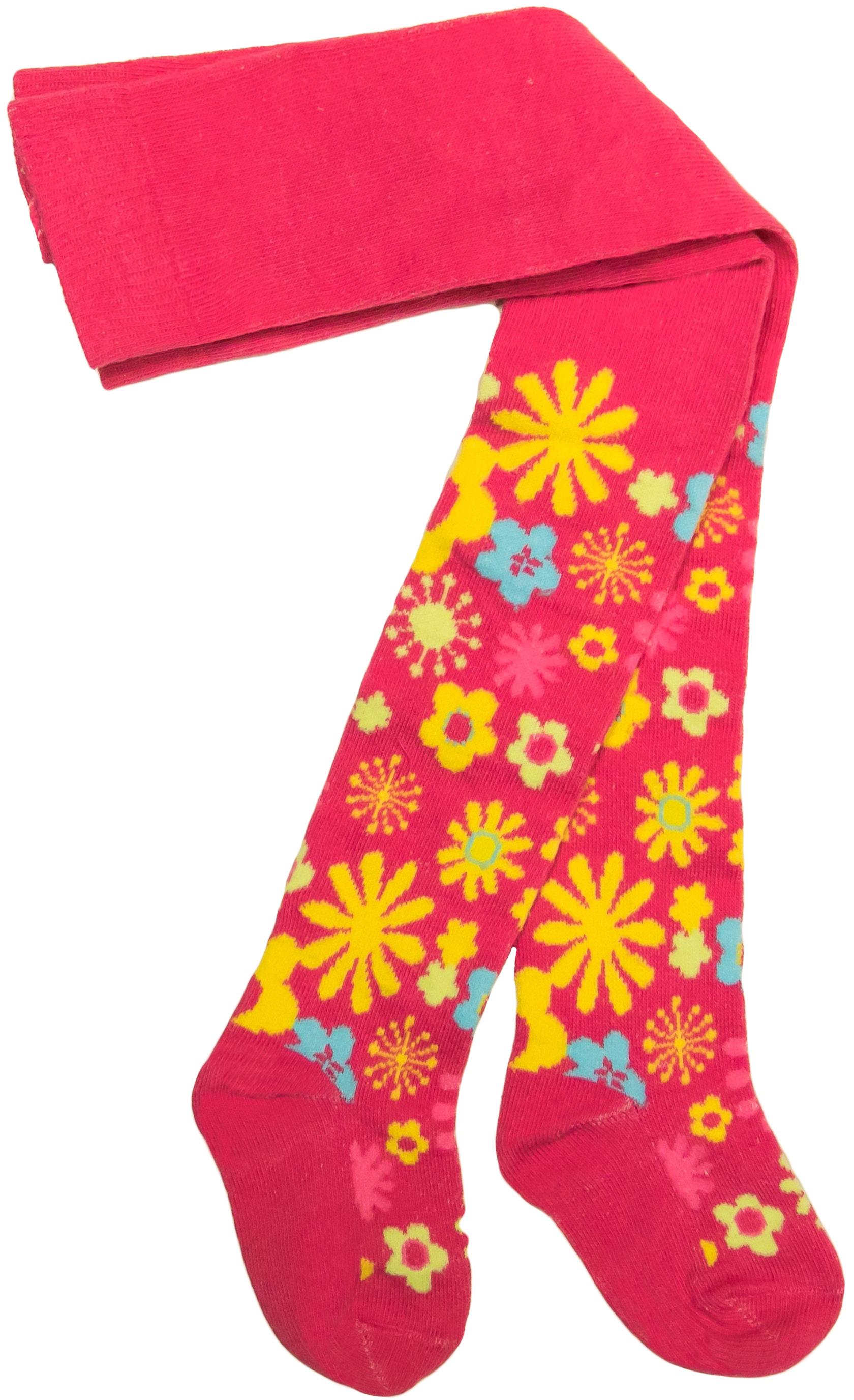 Колготки Barkito Колготки для девочки Barkito, розовые с рисунком цветы комплект маек цветы для девочки barkito