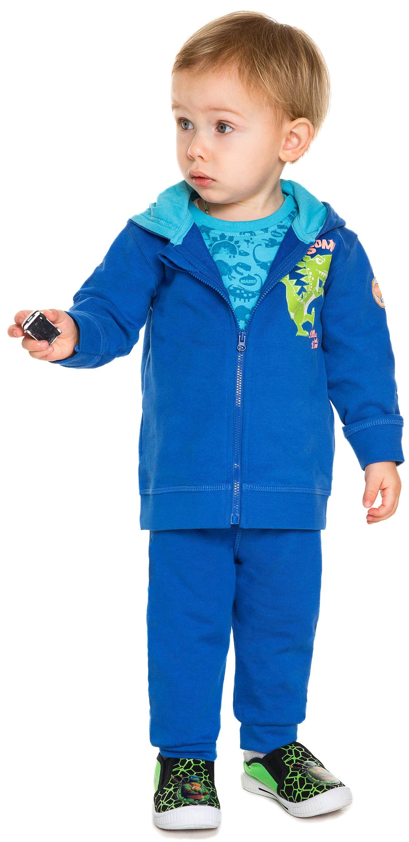 Толстовки Barkito Жакет на молнии с капюшоном для мальчика Barkito, Динозаврики, синий