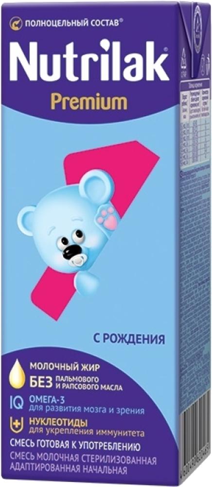 Молочная продукция Nutrilak Смесь Nutrilak (InfaPrim) Premium готовая к употреблению (с 0 до 12 месяцев) 200 мл хлебная смесь молочный хлеб
