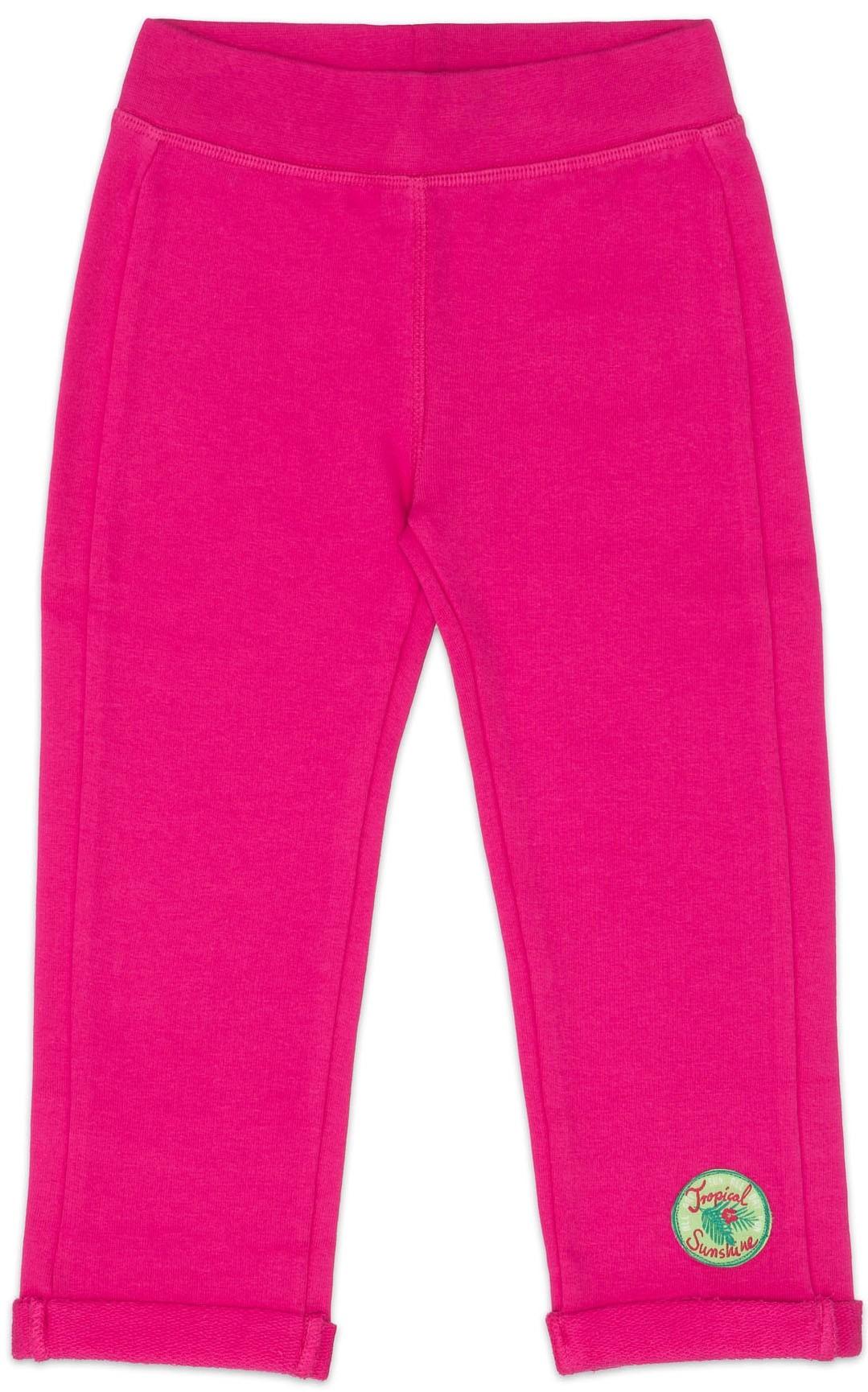 Купить Брюки трикотажные для девочки Barkito, Алоха Гавайи! , темно-розовые, Бангладеш, темно-розовый, Женский