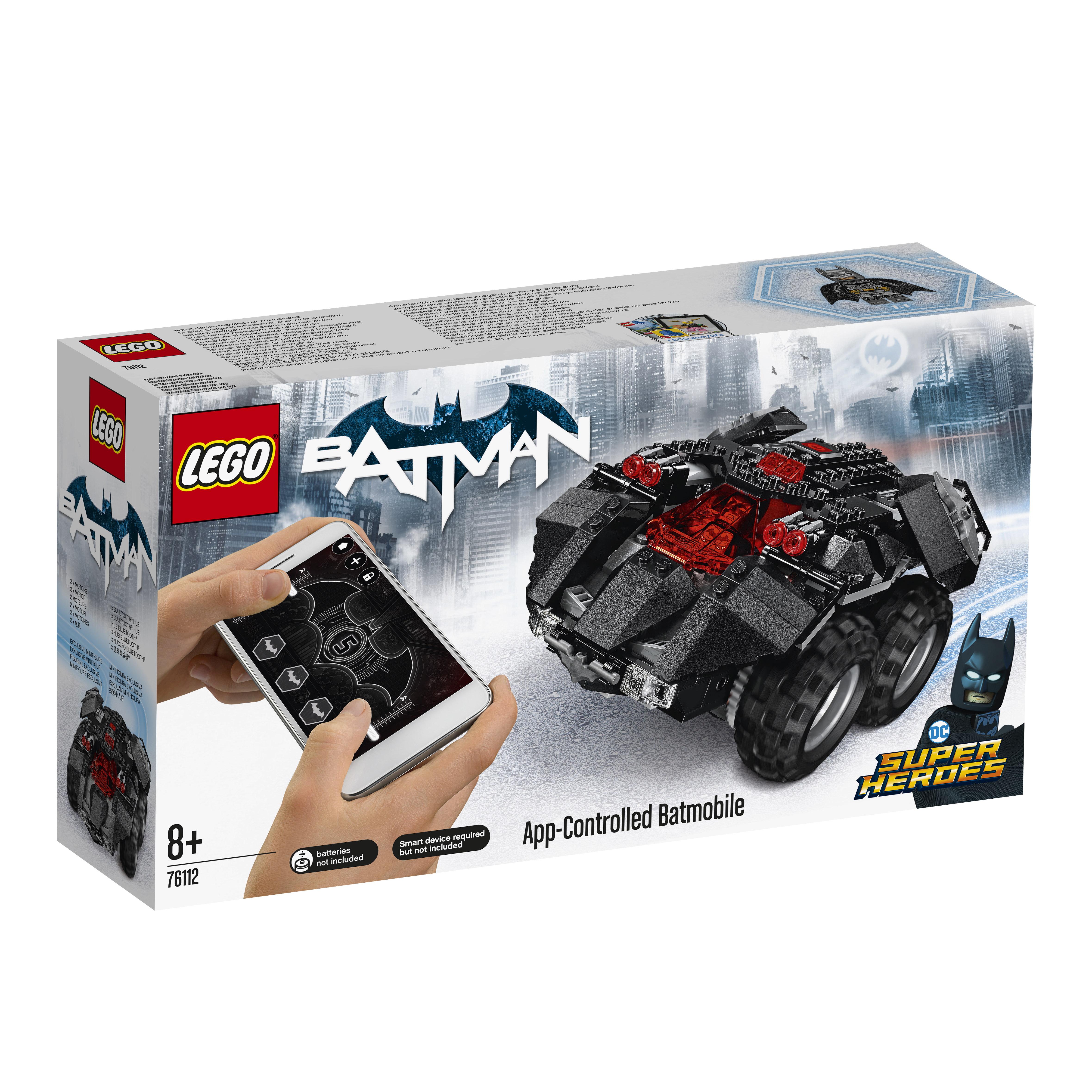 LEGO LEGO Super Heroes 76112 Бэтмобиль с дистанционным управлением инструмент force 61703 досмотровое зеркало с дистанционным управлением на гибком вале
