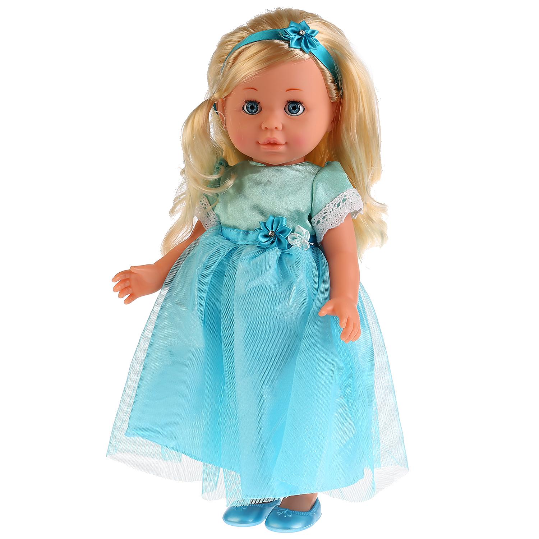 Другие куклы Карапуз Полина в голубом платье озвученная 40 см карапуз ккула 35 см озвученная кольцо и резиночки в подарок