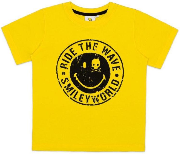 Купить Футболки, Футболка с коротким рукавом для мальчика Smiley, желтая, Индия, желтый, Мужской