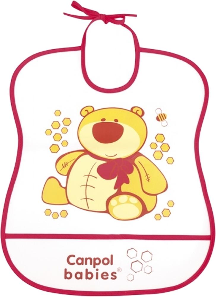 Слюнявчики для кормления Canpol babies мягкий пластиковый с карманом нагрудник canpol babies пластиковый с карманом в ассортименте