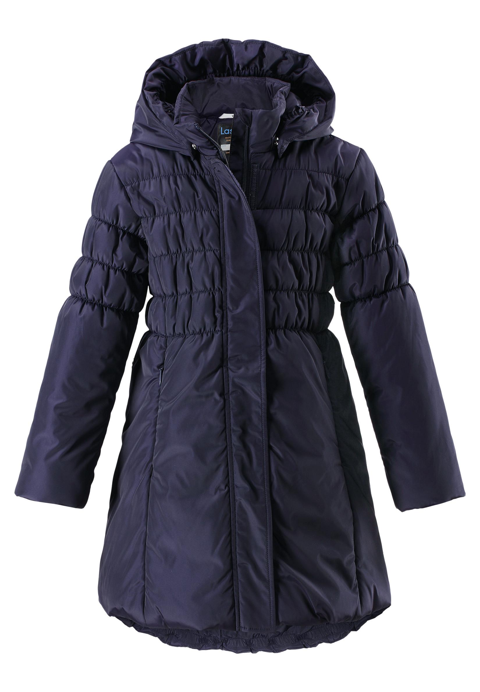 Пальто Lassie Пальто для девочки Lassie, синее куртки пальто пуховики lassie by reima куртка зимняя 721716
