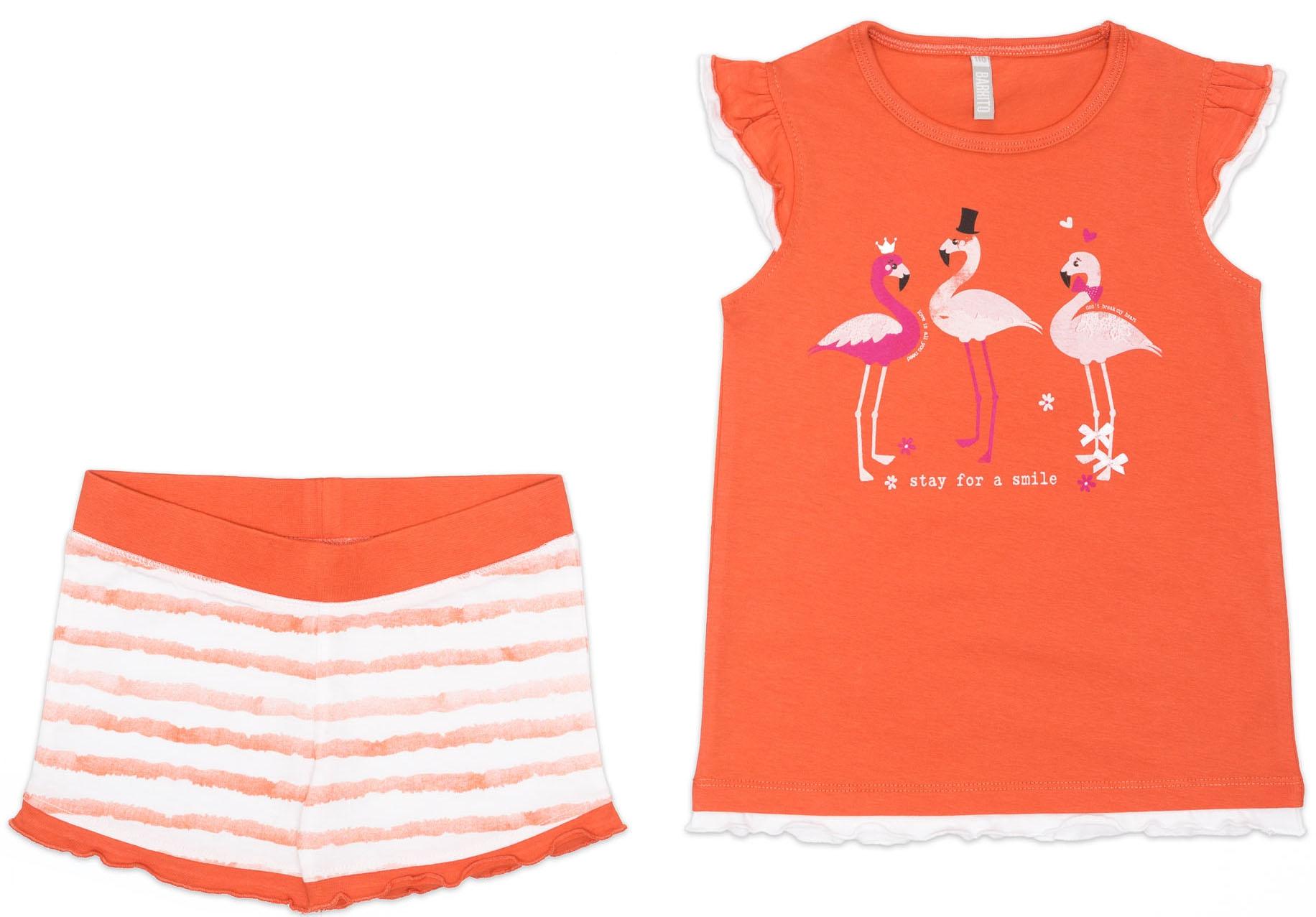 Комплект трикотажный для девочки Barkito Фламинго 915003 X234 75