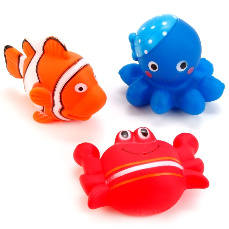 Игрушки для ванны Играем вместе Водные обитатели обитатели гор наклейки