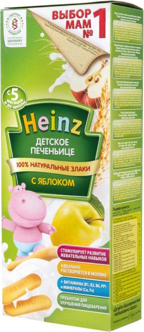 Печенье и сушки Heinz Печенье детское Heinz с яблоком с 5 мес. 160 г печенье heinz с 5 мес 60 г сашет