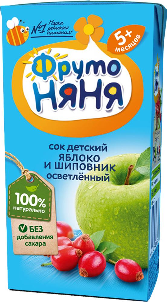 Купить Напитки, ФрутоНяня Яблоко и шиповник с 5 мес. 200 мл, Фрутоняня, Россия