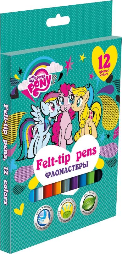 Фломастеры My Little Pony My Little Pony 12 цветов всё для лепки multiart пластилин классический восковый my little pony 6 цветов
