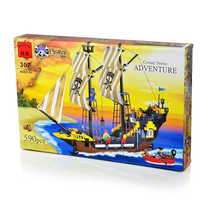 Пластмассовые Enlighten Brick Конструктор Enlighten Brick «Pirates. Adventure» 590 дет. конструктор lepin creators магазинчик на углу 3 в 1 491 дет 24007