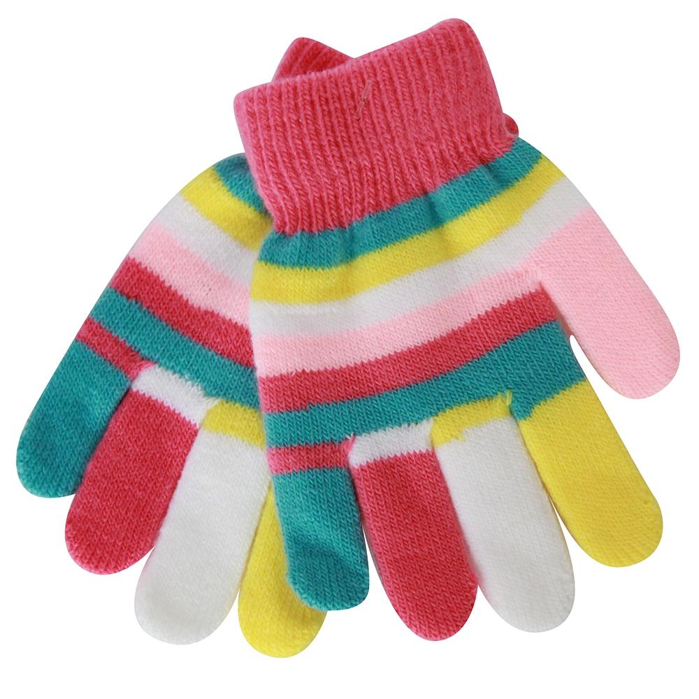 Варежки и перчатки Хамелеон Перчатки для девочки Хамелеон серо - розовые, в полоску варежки  перчатки и шарфы huppa детские перчатки odin