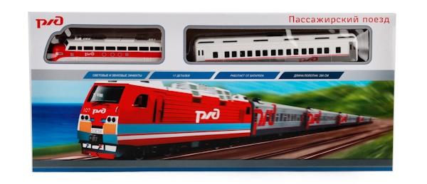 Железная дорога Играем вместе Пассажирский поезд РЖД железная дорога играем вместе железная дорога заводная фиксики с 3 х лет b1279625 r