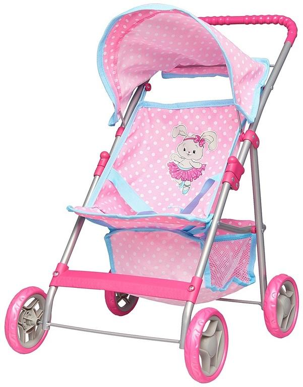 прогулочная коляска для куклы Наша игрушка Зайка