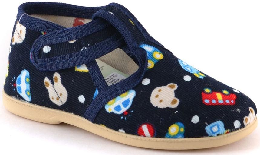 Тапочки Домашки Туфли для мальчика Домашки темно-синие брюки темно синие 3pommes ут 00005348