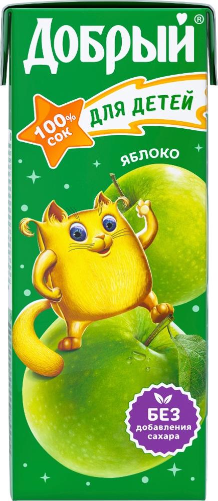 Сок Добрый Яблоко с 4 мес. 200 мл добрый сок яблоко персик 0 2 л