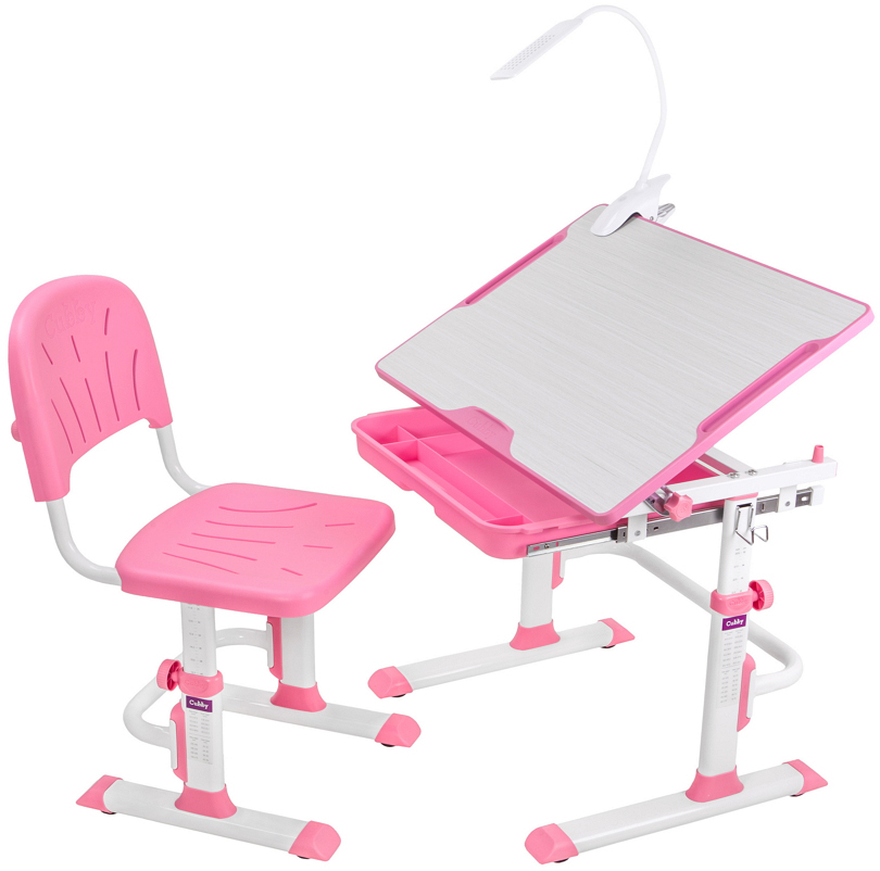 Купить Комплект парта и стул-трансформеры, model, 1шт., Cubby 515607, Китай, pink, Женский