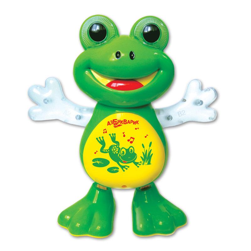 Развивающая игрушка Азбукварик Лягушка танцующая развивающая игрушка rubbabu лягушка 10 см в ассортименте