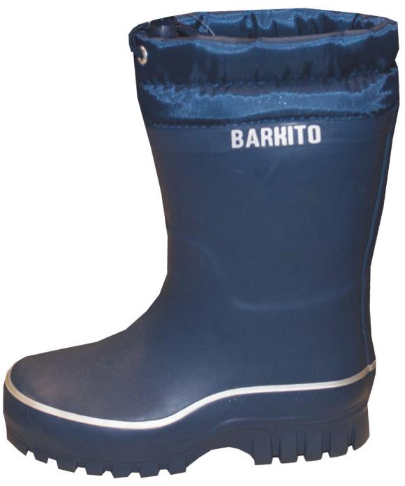 Сапоги резиновые для мальчика Barkito Утепленные синие